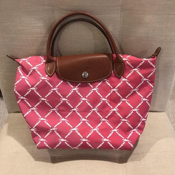 Longchamp Handbags - Authentic Small Longchamp Logo Tote RARE